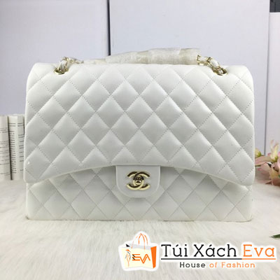 Túi Xách Chanel Maxi Fi Màu Trắng Đẹp