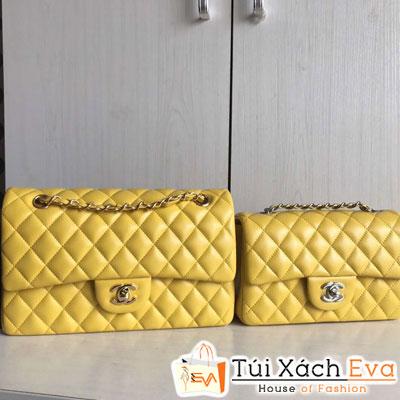 Tui Xách Chanel Maxi Siêu Cấp Da Lì Khoá Bạc Màu Vàng Đẹp