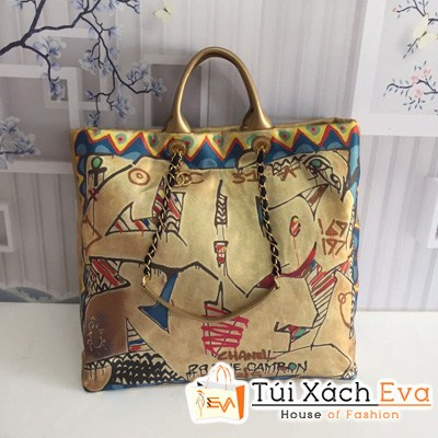 Túi Xách Chanel Maxi Siêu Cấp Màu Vàng