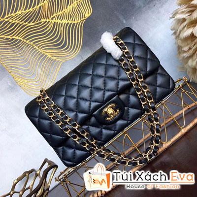 Túi Xách Chanel Maxi Siêu Vip Da Lì Màu Đen