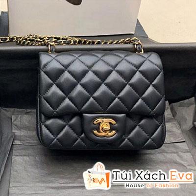 Túi Xách Chanel Mini Flap Bag Siêu Cấp Màu Đen Khóa Vàng A35200