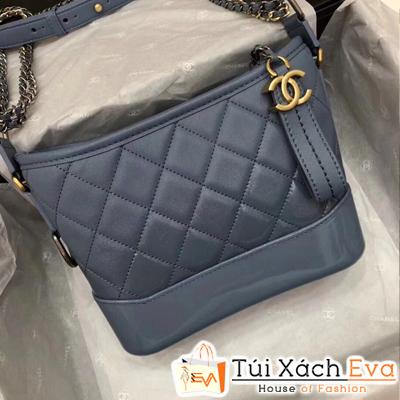 Túi Xách Chanel Hobo New Siêu Cấp Màu Xanh Dương