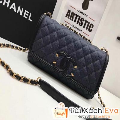 Túi Xách Chanel Siêu Cấp Da Hạt Màu Đen
