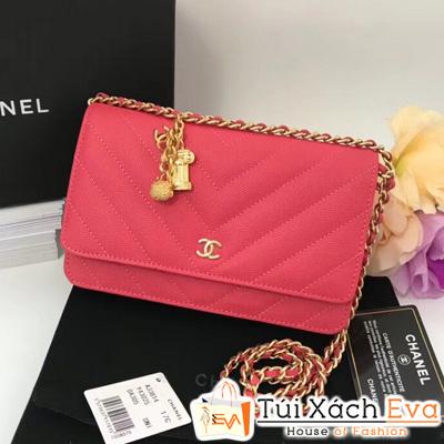 Túi Xách Chanel Siêu Cấp Da Hạt Vân V Màu Đỏ