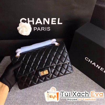 Túi Xách Chanel Siêu Cấp Da Nhăn Khóa Vàng Màu Đen