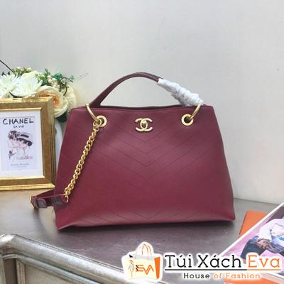 Túi Xách Chanel Siêu Cấp Hai Quai Xách Màu Đỏ Đô