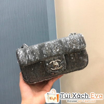 Túi Xách Chanel Siêu Cấp Màu Đen  Kim Tuyến