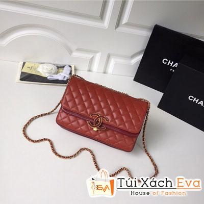 Túi Xách Chanel Siêu Cấp  Màu Đỏ Da Lì