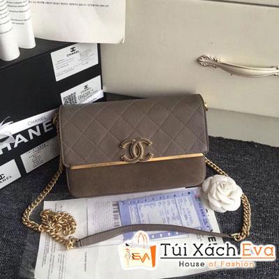 Túi Xách Chanel Siêu Cấp Màu Nâu Có Quai Xách