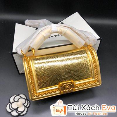 Túi Xách Chanel boy Siêu Cấp Màu Vàng Đồng