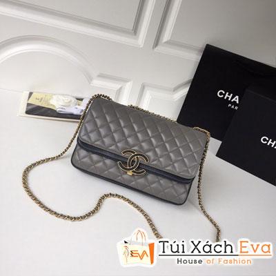 Túi Xách Chanel Siêu Cấp  Màu Xám Da Lì