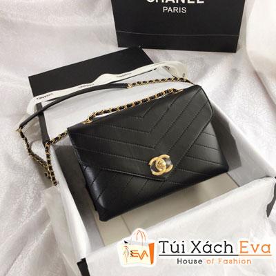 Túi Xách Chanel Siêu Cấp Sọc V Màu Đen