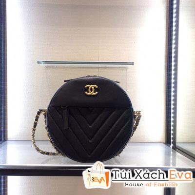 Túi Xách Chanel Siêu Cấp  Tròn Vân  V Khóa Kéo