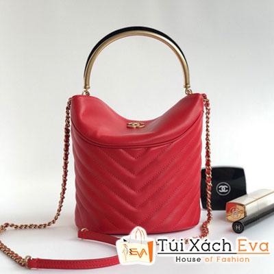 Túi Xách Chanel Siêu Cấp  Vân V Hình Trụ Màu Đỏ