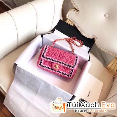 Túi Xách Chanel Siêu Vip Vải Khóa Vàng Màu Đỏ