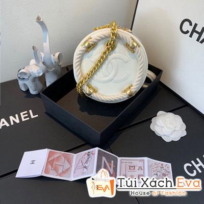 Túi  Xách Chanel Small Round Bag Siêu Cấp Tròn Màu  Trắng