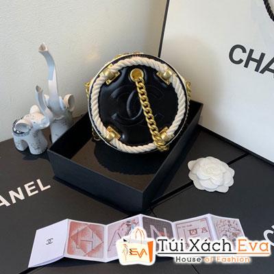 Túi  Xách Chanel Small Round Bag Siêu Cấp Tròn Màu Trắng Đen