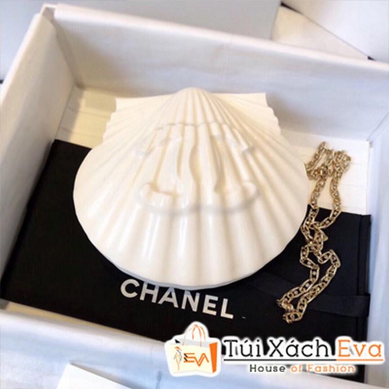Túi Xách Chanel Sò Siêu Cấp Màu Trắng