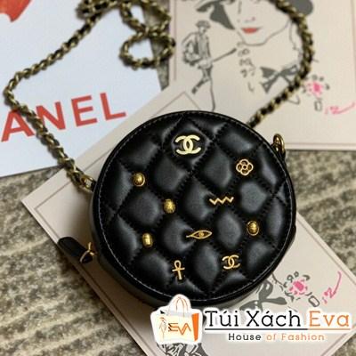 Túi xách Chanel Tròn Siêu Cấp Đính Họa Tiết
