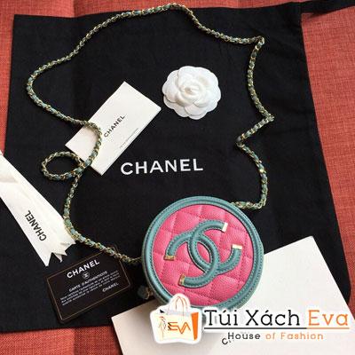 Túi Xách Chanel  Tròn Siêu Cấp Màu Xanh Ngọc