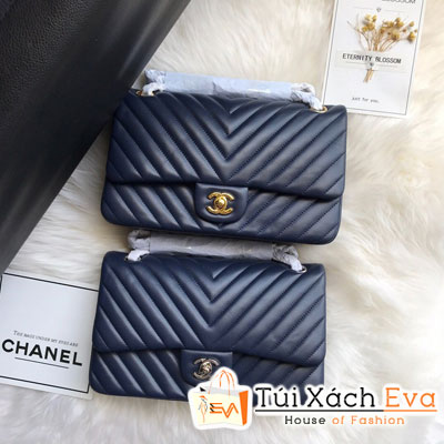Túi Xách Chanel Vân V  Siêu Cấp Da Lì Khóa Vàng