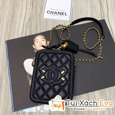 Túi Xách Chanel Vanily Case Siêu Cấp Màu Đen