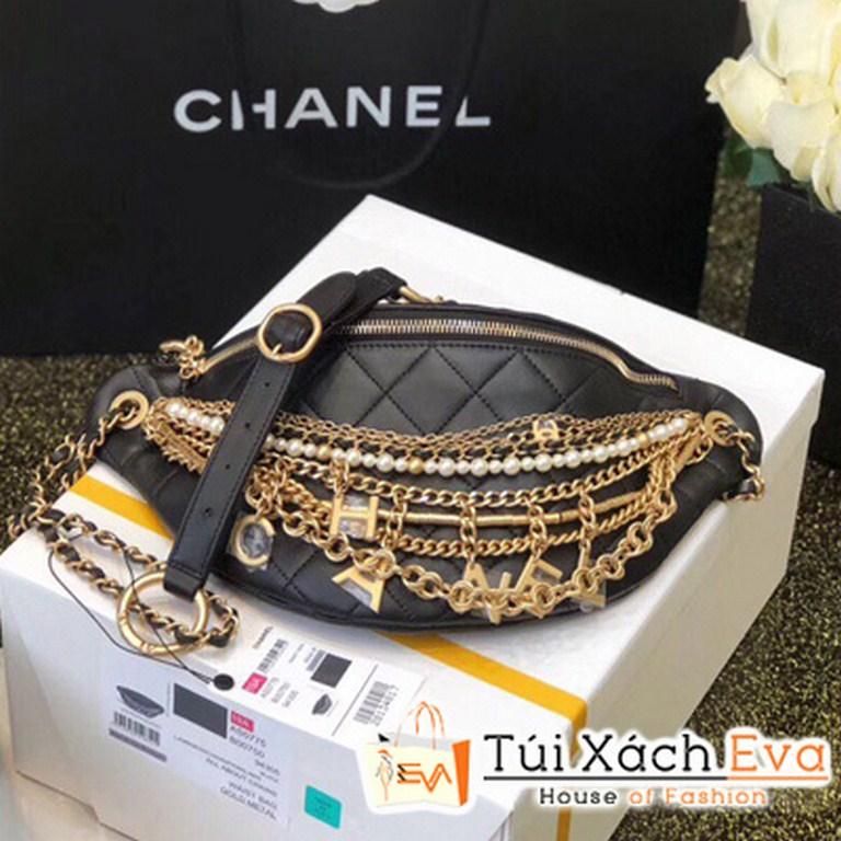 Túi Xách Chanel Waist Bag Siêu Cấp Màu Đen
