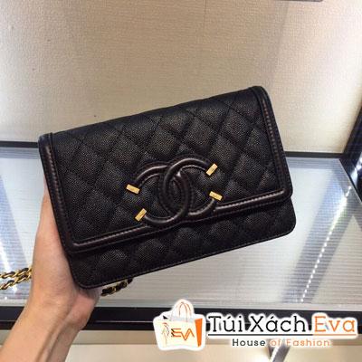 Túi Xách Chanel Walle On Chain Siêu Cấp Màu Đen