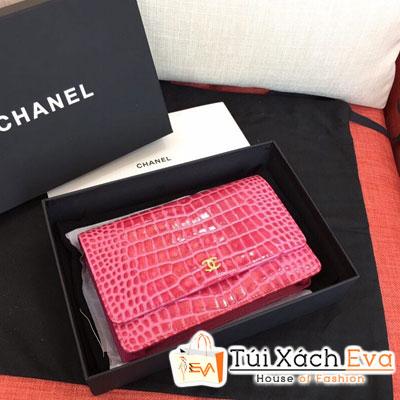 Túi Xách Chanel Woc Siêu Cấp Da Cá Sấu Màu Hồng