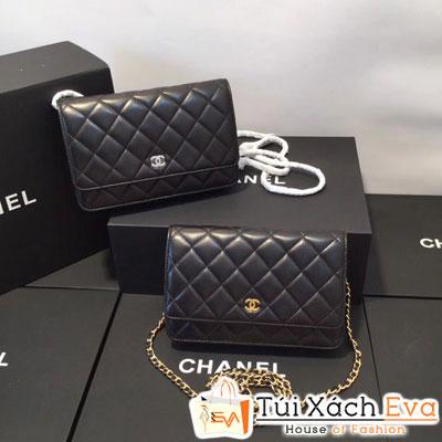 Túi Xách Chanel WOC Siêu Cấp Da Hạt Màu Đen Khóa Vàng