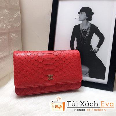 Túi Xách Chanel Woc Siêu Cấp Da Rắn Màu Đỏ 33814