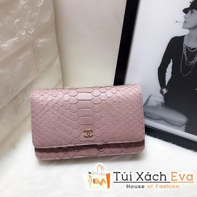 Túi Xách Chanel Woc Siêu Cấp Da Rắn Màu Hồng 33814