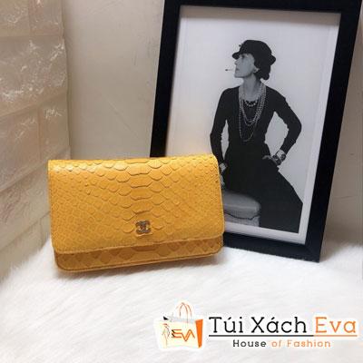 Túi Xách Chanel Woc Siêu Cấp Da Rắn Màu Vàng 33814