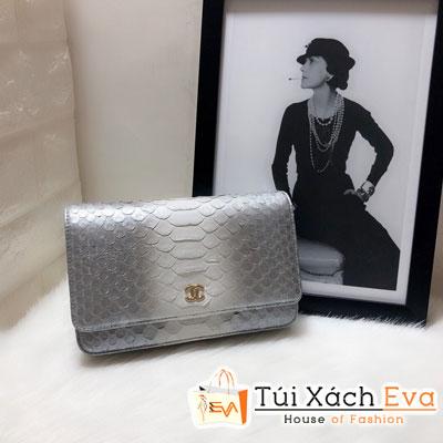 Túi Xách Chanel Woc Siêu Cấp Da Rắn Màu Xám 33814