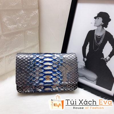 Túi Xách Chanel Woc Siêu Cấp Da Rắn Màu Xám  Đậm 33814