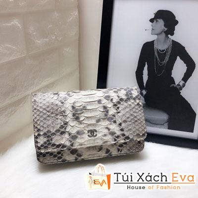 Túi Xách Chanel Woc Siêu Cấp Da Rắn Màu Xám Trắng 33814