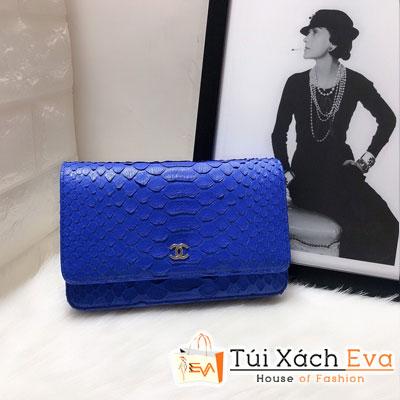 Túi Xách Chanel Woc Siêu Cấp Da Rắn Màu Xanh Dương 33814