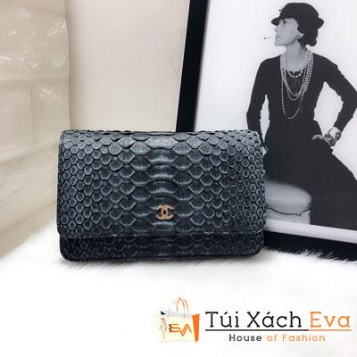 Túi Xách Chanel Woc Siêu Cấp Da Rắn Màu Xanh Lá Đậm 33814