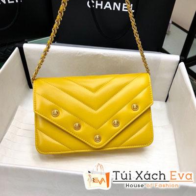 Túi Xách Chanel Woc Siêu Cấp Màu Vàng Nắp Gập