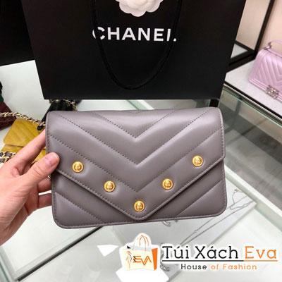 Túi Xách Chanel Woc Siêu Cấp Màu Xám Nắp Gập