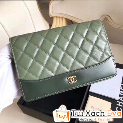 Túi Xách Chanel Woc Siêu Cấp Màu Xanh Rêu