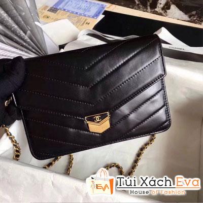 Túi Xách Chanel Woc Siêu Cấp Vân V Da Lì Màu Đen