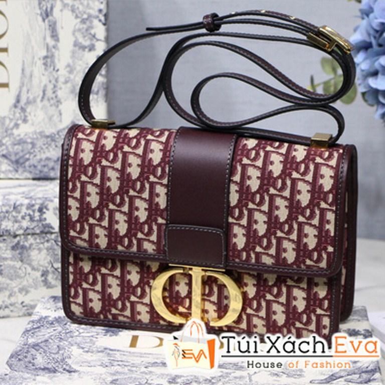 Túi Xách Dior 30 Montaigne Siêu Cấp Vải Đỏ