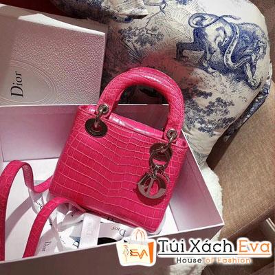 Túi Xách Dior 98 New Siêu Cấp Da Cá Sấu Màu Hồng