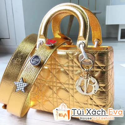 Túi Xách Dior Lady Ánh Vàng Siêu Cấp M0532OCALM900