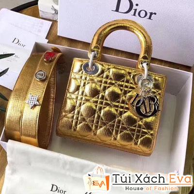 Túi Xách Dior  Lady Siêu Cấp Mẫu 2018 Màu Vàng Đồng  Dây Đeo Bàng Lớn