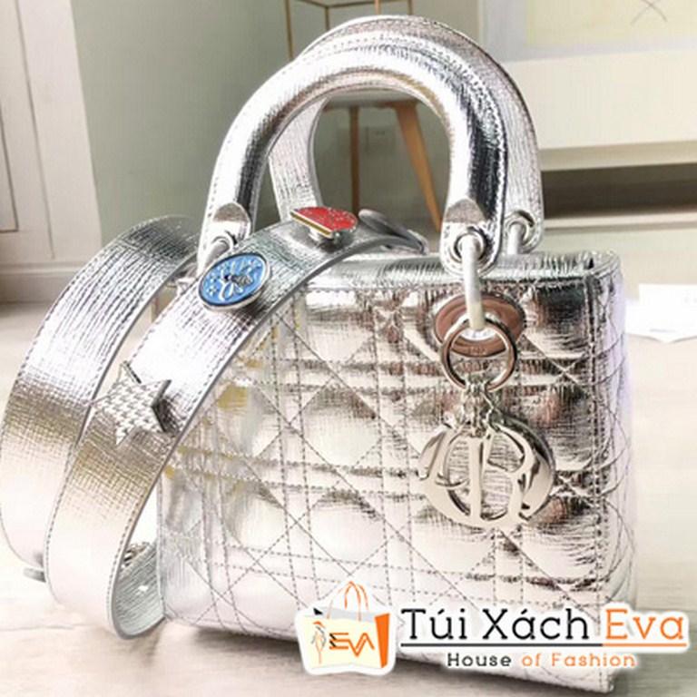 Túi Xách Dior Lady  Siêu Cấp Màu Bạc  M0532OCALM900
