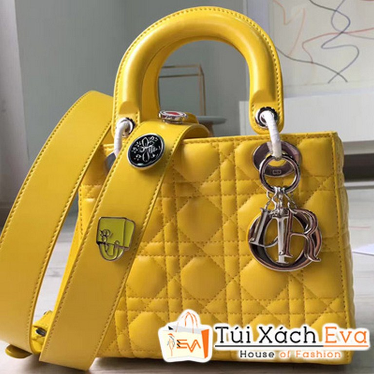 Túi Xách Dior Lady  Siêu Cấp Màu Vàng  M0532OCALM900