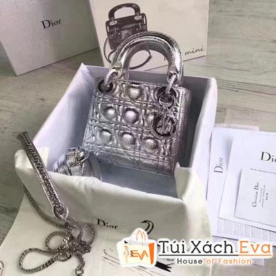 Túi Xách Dior Lady  Siêu Cấp Màu Xám
