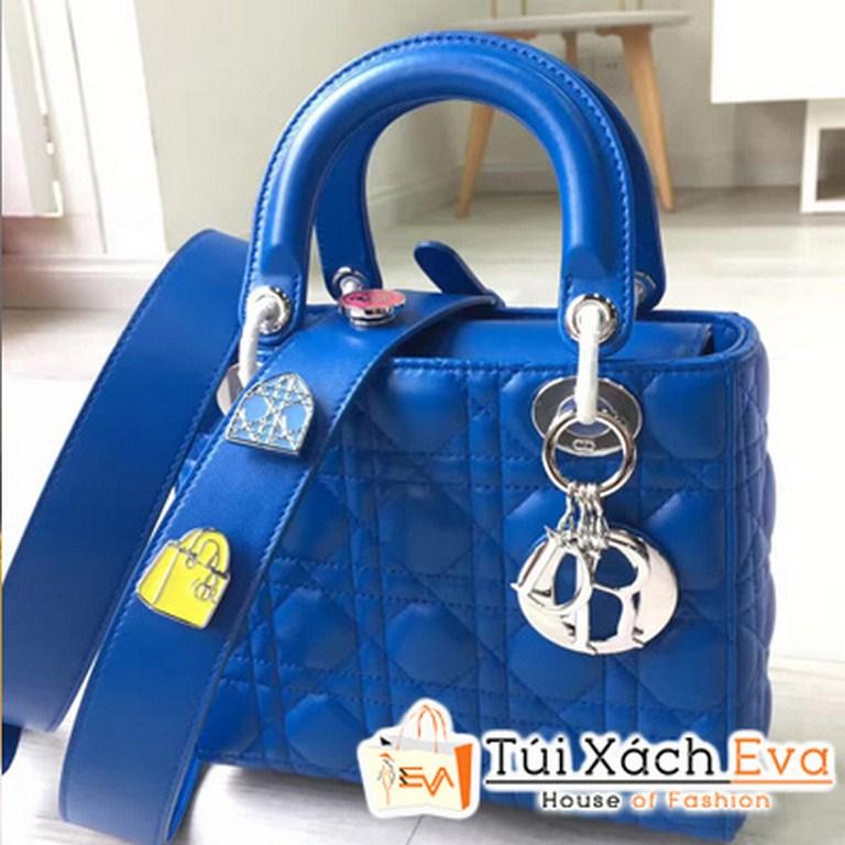 Túi Xách Dior Lady  Siêu Cấp Màu Xanh   M0532OCALM900